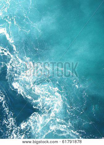 Churning Blue Water