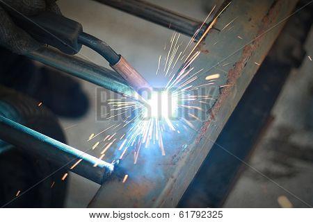 light from welding
