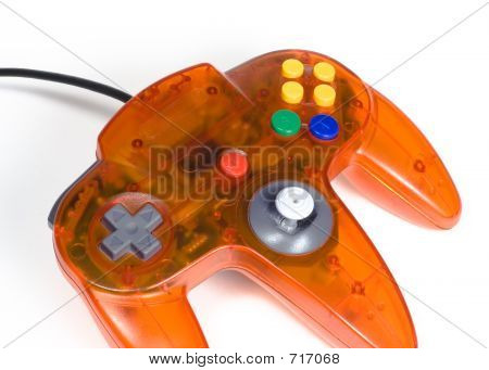 Orange Game Controller Close-up