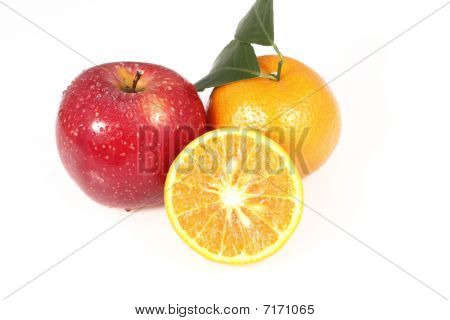 Apple and tangerine