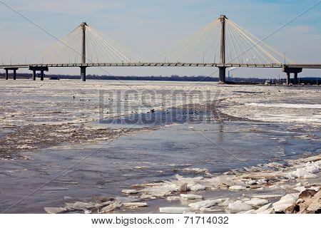 Clark Bridge In Alton, Illinois