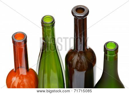 Open Bottlenecks Of Few Colored Wine Bottles
