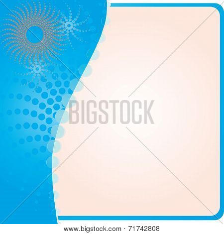 Abstract Blue Frame