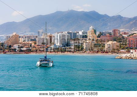 Benalmadena City, Spain, Sailing Catamaran