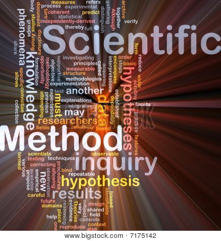 Scientific Method Background Concept Glowing