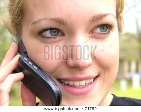 Woman On Cell