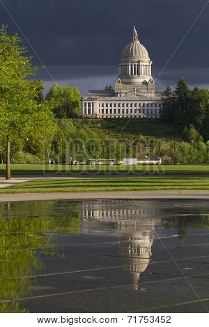 Olympia Washington Capital Building Reflection