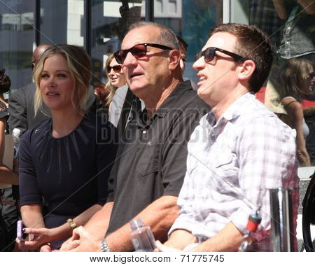 LOS ANGELES - SEP 9:  Christina Applegate, Ed O'Neill, David Faustino at the Katey Sagal Hollywood Walk of Fame Star Ceremony at Hollywood Blvd. on September 9, 2014 in Los Angeles, CA