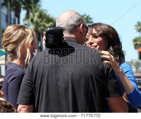 LOS ANGELES - SEP 9:  Christina Applegate, Ed O'Neill, Katey Sagal at the Katey Sagal Hollywood Walk of Fame Star Ceremony at Hollywood Blvd. on September 9, 2014 in Los Angeles, CA