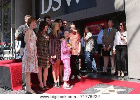 LOS ANGELES - SEP 9:  Katey Sagal, family at the Katey Sagal Hollywood Walk of Fame Star Ceremony at Hollywood Blvd. on September 9, 2014 in Los Angeles, CA