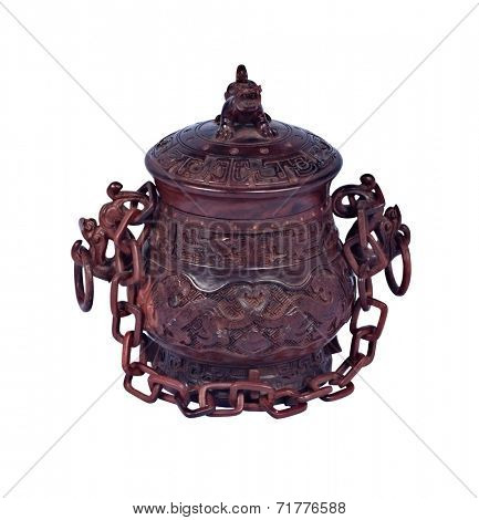 Chinese art wood carving handicraft