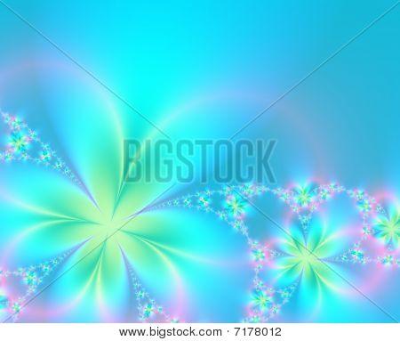 Spring Fractal Background