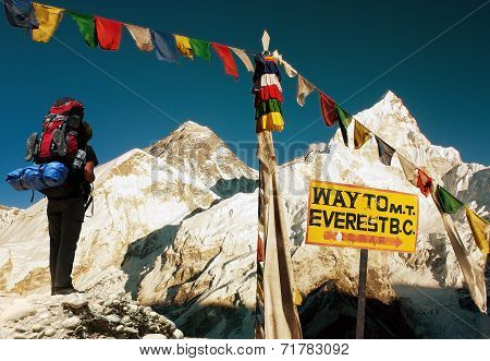 View Of Everest - Way To Everest Base Camp - Nepal