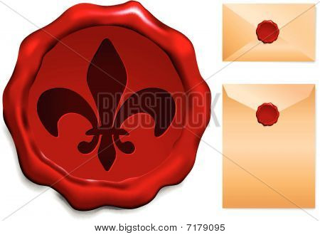 Fleur De Lis a pecsét viasz
