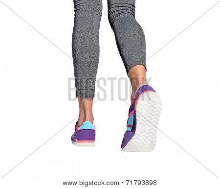Isolated Woman Feet