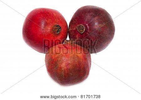 pomegranate fruits on white background