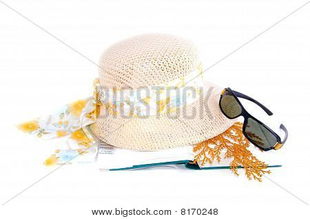 Hat Book And Sunglasses Set