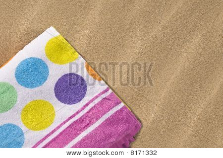 Spotted Towel On Sand