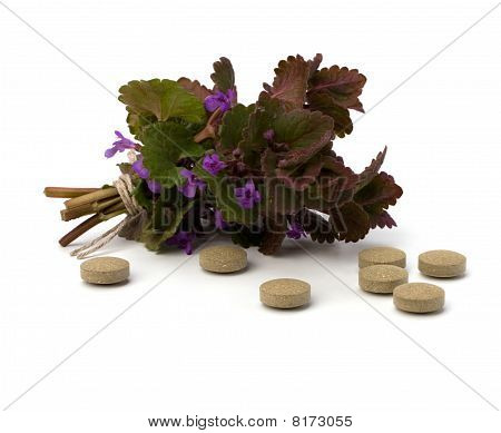 herbal medicine isolated on white background