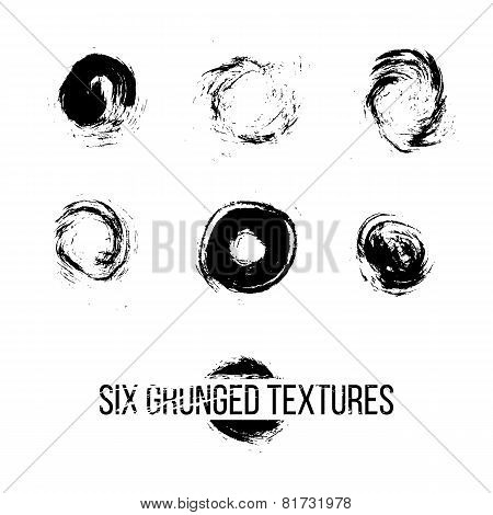 Set of Grunged Dots