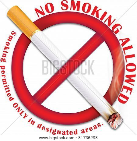 No smoking allowed - sticker for print