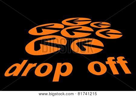 Drop Off Sign Isolated