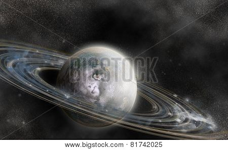 Planet With Ring System
