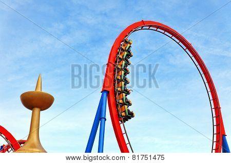 PORT-AVENTURA, SPAIN - SEPT, 06:Amusement park in Spain near Salou- Port Aventura