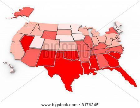 Healthiest Vs Unhealthiest - United States Map