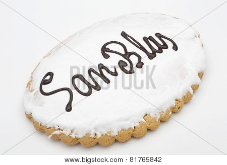 Holiday Cookie San Blas. Sweet Typical Day On February 3 In Spain
