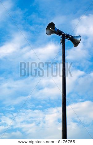 Megaphone Or Sirens On A Pole