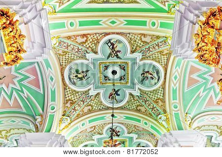 St. Petersburg, Russia Federation - June 27:interior Of Peter And Paul Fortress. Picture Takes In Sa