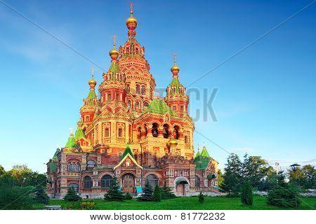 Church of St. Peter and Paul Church Peterhof Saint Petersburg Russia poster