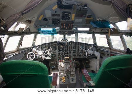 Superannuated aircraft cockpit interior