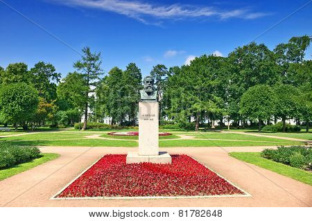 Square   And Statue Of Friedrich Engels ,saint Petersburg, Russia