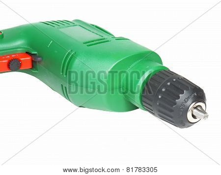 Electric Drill Isolated On White Background