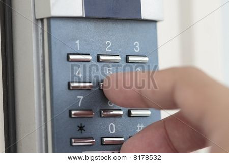 Opening The Door With Number Combination