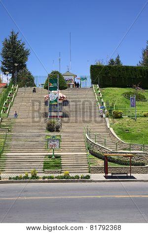 Laikacota Park in La Paz, Bolivia