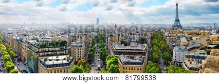 View Of Paris From The Arc De Triomphe.Paris. France.