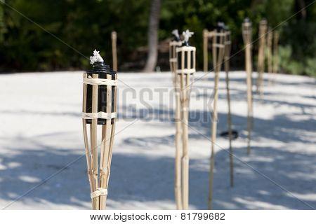 Tiki torches on the