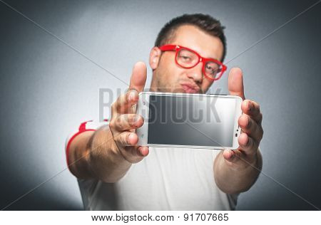 Guy With Mobile Phone