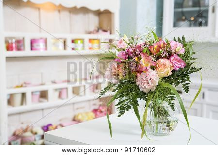 Flowers On The Bright And Cute Background