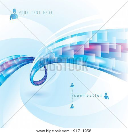 Abstract background of internet connections.