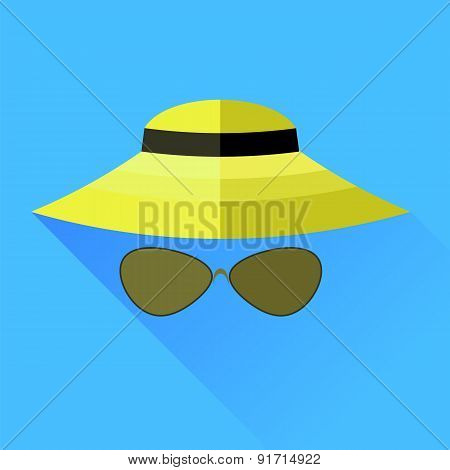 Straw Hat and Glasses