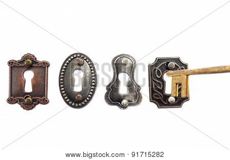 Old Fashioned Locks And Key