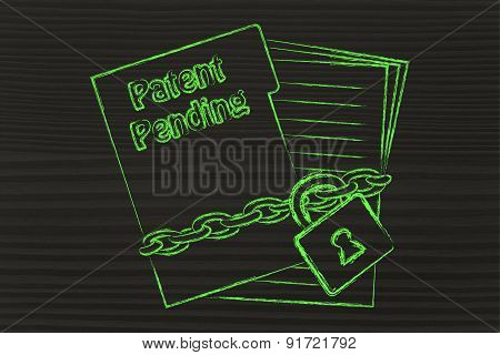 Patent Pending Documents: Illustration With Chained Pages