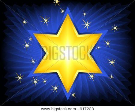 Golden Star Of David