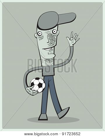 Soccer Player Waving