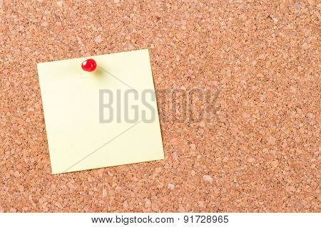 Sticky Post Pinned On Cork Board