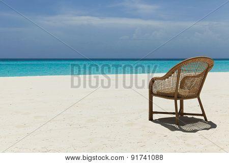Empty Beach Chair